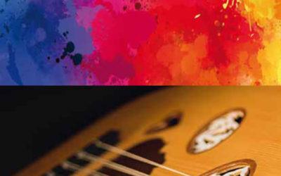 FarbTON trifft OudTON.  Malerei-Grafikworkshop mit orientalischer Oud-Live-Musik