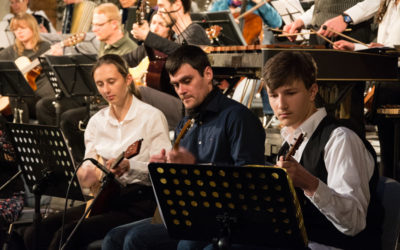 Konzert des KlangBRÜCKEN-Ensembles in der Theaterruine St. Pauli am 11.10.2020